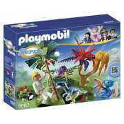 Foto van Playmobil Super 4 Lost Island with Alien and Raptor