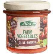Foto van Allos Farm vegetables tomaat & olijf 135 Gram