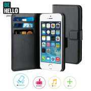 Foto van BeHello iPhone 5 / 5S / SE Wallet Case Black - BeHello