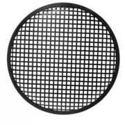 "Foto van HQ Power 10"" black metal speaker grille"