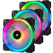 Foto van Corsair Casefan LL120 RGB 120mm Dual Light Loop RGB LED PWM Fan, 3 Fan Pack with Lightin